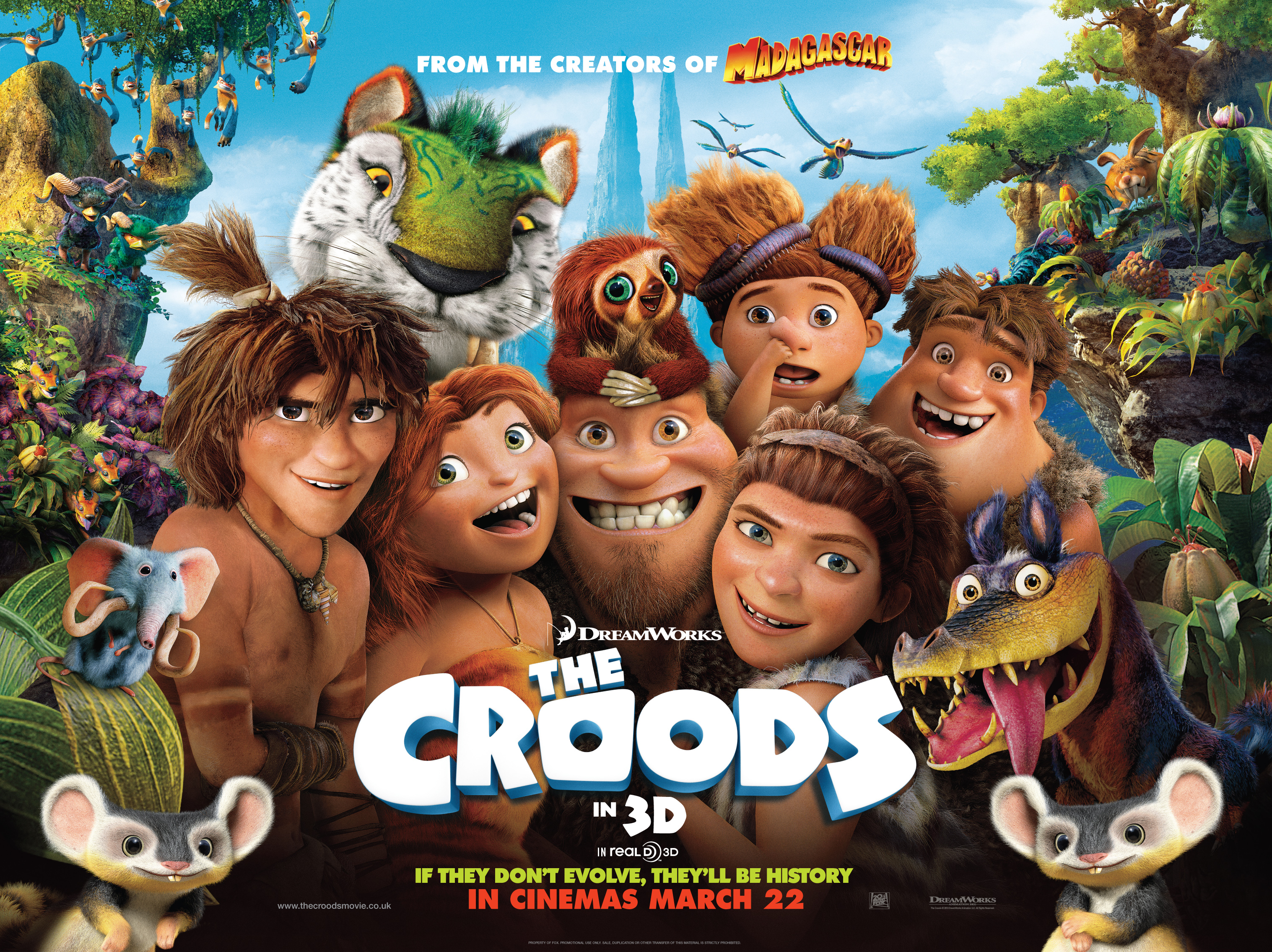 The Croods: Meet the Characters of Dreamworks PreHistoric